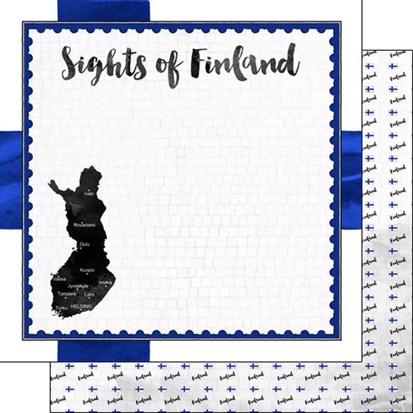 Scrapbook Customs Go Big Water Polo Themed Paper and Stickers Scrapbook Kit 12 x 12