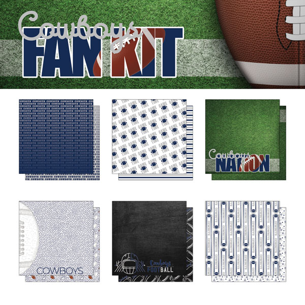 Cowboys Fan Kit Paper