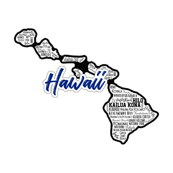 Hawaii State Sights Laser
