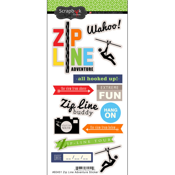 ZIP LINE ADVENTURE STICKER
