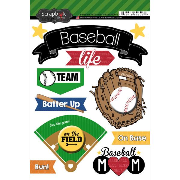 BASEBALL LIFE DOO DADS STICKER