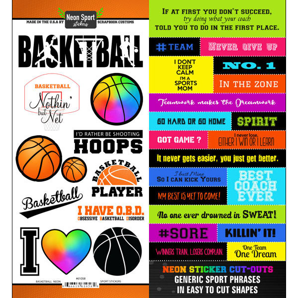 Basketball Neon Sticker