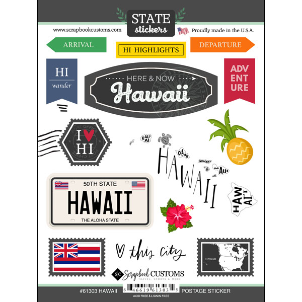 Hawaii State Postage Sticker