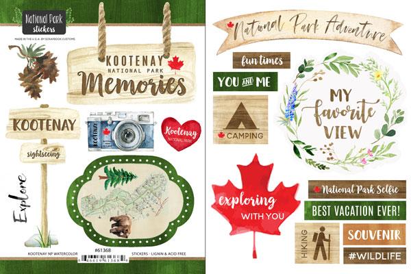 Scrapbook Customs | Kootenay National Park Watercolor ...